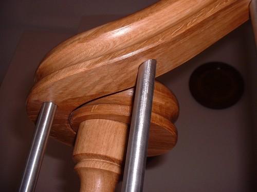 menuiserie escalier 04 volute poteau en bois et inox vue de la volute detail de profil droit. Black Bedroom Furniture Sets. Home Design Ideas